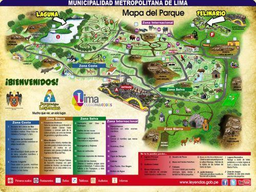 Mapa general - Parque de las Leyendas